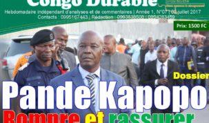 Congo Durable, la Une