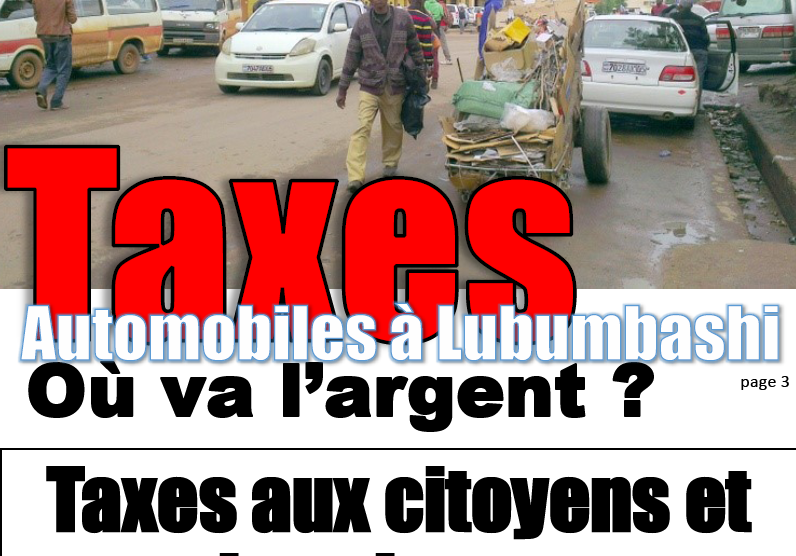 Congo Durable, taxes